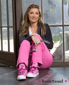 """Meet Marina Dedivanovic, HeartSoul's new Nurse Advocate! As a busy nurse working in the Emergency Room featured on the ABC primetime series, NY MED, Marina knows """"Tough Love"""" - the new HeartSoul Footwear style she is proudly wearing. New Nurse, Tough Love, Fashionable Scrubs, Movie Tv, Fashion Shoes, Footwear, Actors, Simple Things, Caregiver"""