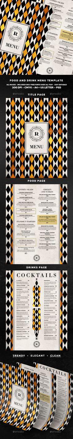 Food Menu - Food Menus Print Templates Download here : https://graphicriver.net/item/food-menu/19188914?s_rank=94&ref=Al-fatih