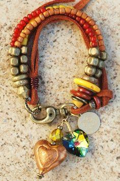 XOGALLERY BRACELETS | Heart Charm Bracelet | XO Gallery... | Jewels