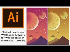 Minimal Landscape Wallpaper Artwork for Wall Decoration Illustrator Tutorials - YouTube