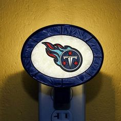Tennessee Titans Hand-Painted Glass Nightlight - $14.99