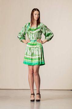 Vestito stampato seta stampa #dressingfab #silk #dress #green #shopping #shoponline