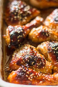 The easiest honey garlic sesame baked chicken is made with just 5 ingredients makes a perfect weeknight meal.Don't you just