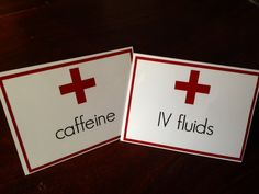 Instant Download: Drink Tent Cards Medical Themed by YouAndMeAreWe