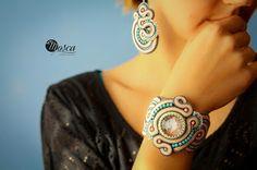 Laurel - soutache set (bacelet + earrings)