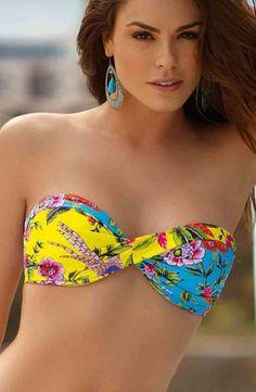 Faisan - Bandeau Bikini Oberteil von Ellipse