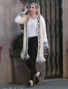Wrap up in a tribal print cardigan from Forever 21. Click 'Visit' to buy now. #DailyMail