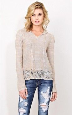 Curled Up Purl Knit Sweater