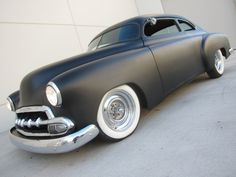 52 Chevy two door sedan flat gray