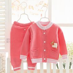 >> Click to Buy << 2016Children's clothing new spring baby sweater suit fashion leisure cute baby cotton two-piece sweater baby suit #Affiliate