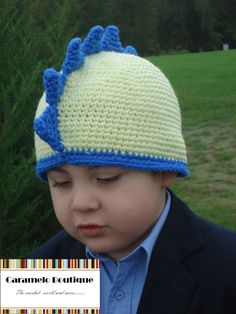 Crochet Dino Hat for Boys-pattern NOT included...pinned for pic to reference.