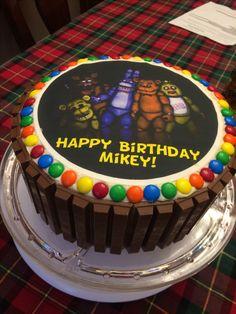 Five Nights at Freddy's Kit Kat cake