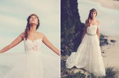 bohemian bride on the beach lace wedding gowns 4