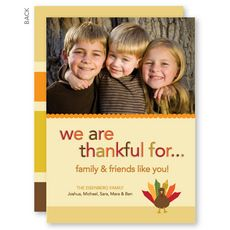 Thanksgiving From Us Thanksgiving Photo Cards #StationeryStudio