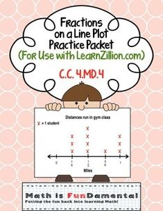 83 best 4th grade math images on pinterest mathematics calculus fractions on a line plot packet for use with learn zillion ccss 44 flipped classroomteaching mathmath skillscommon core standardsfractions common fandeluxe Image collections