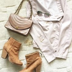 blush and brown /// this jacket is under $100!