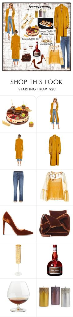 """""""Giving Thanks for Friendships"""" by onesweetthing ❤ liked on Polyvore featuring Nostalgia, Free People, STELLA McCARTNEY, jucca, Prada, N°21, Roberto Cavalli and Riedel"""