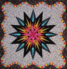 Vintage Compass, Quiltworx.com, Made by CI Jackie Kunkel.