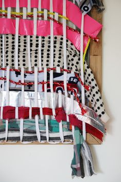 make a giant weaving board we all can contribute to