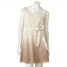 LC Lauren Conrad Lace Dip-Dyed Dress Turtledove