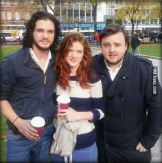 So much awesomeness in one picture. Jon Snow ❄ Ygritte ❄ Samwell Tarly