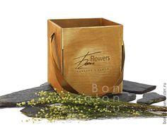 Купить Деревянная коробка для цветов - упаковка, коробочка, коробки, подарочная упаковка, деревянная упаковка