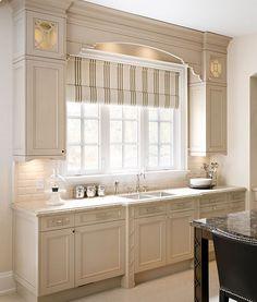 """Kitchen :: Benjamin Moore Paint Colors. Benjamin Moore """"Winds Breath 981"""" Paint Color for Greige Kitchen Cabinet"""