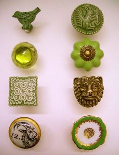 can't stop thinking about these knobs! Green knobs for Klovers dresser I'm refinishing!