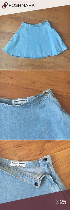 American Apparel Denim Circle Skirt American Apparel Denim Circle Skirt in size XS. Like new condition! American Apparel Skirts Circle & Skater
