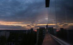 Sunset seen from balcony