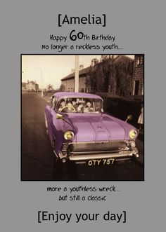 HelloTurtle Birthday Cards Reckless Youth Personalised Card Personalise And Send This To Someone You Care About Same Day Despatch On Orders