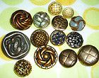 14 ANTIQUE VINTAGE NOW BASKET WEAVE PIERCED DOME MIXED METAL BUTTON LOT - http://oddauctions.net/antique-buttons/14-antique-vintage-now-basket-weave-pierced-dome-mixed-metal-button-lot/