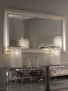The beautiful and stylish Glamour mirror, can be hung landscape or portrait offering two completely different effects.