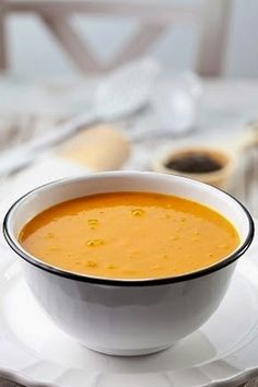 Cream of pumpkin soup Vegetarian Soup, Vegetarian Recipes, Healthy Recipes, Pumpkin Recipes, Soup Recipes, Cooking Recipes, Cream Of Pumpkin Soup, My Favorite Food, Favorite Recipes