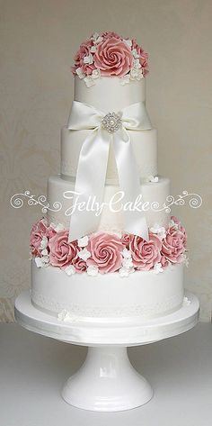Indian Weddings Inspirations. Pink Wedding Cake. Repinned by #indianweddingsmag indianweddingsmag.com #vintage #rustic