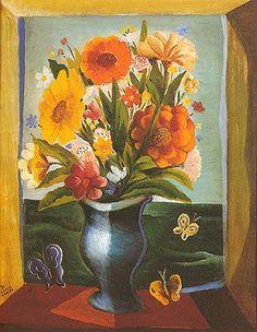 Di Cavalcanti - Vaso de flores - 65 x 50 cm