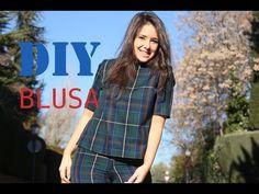 DIY Costura: cómo hacer blusa de cuadros (patrones gratis) - YouTube