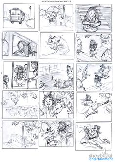 Eight Frames From Commercial Storyboard  The Art Of Illustration