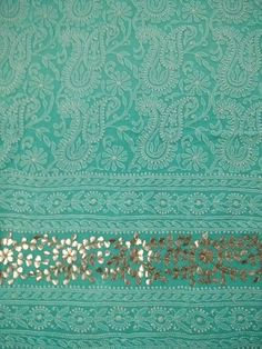 Chikankari Suits - Mukaish work Lucknowi suits - badala and kamadani work Suits Embroidery Online, Couture Embroidery, Hand Embroidery Designs, Chikankari Suits, Lucknowi Suits, Gota Patti Suits, Pure Georgette Sarees, Embroidered Lace Fabric, Neck Designs For Suits