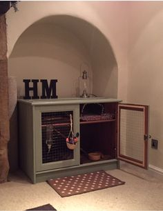 House rabbit hutch up-cycled furniture