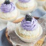 Blackberry Coconut Cupcakes –
