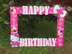 Hello Kitty photo frame cuadro tematico made by Thelma Villa