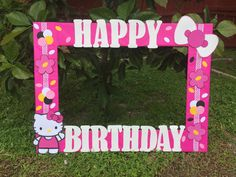Hello Kitty photo frame cuadro tematico made by Thelma Villa