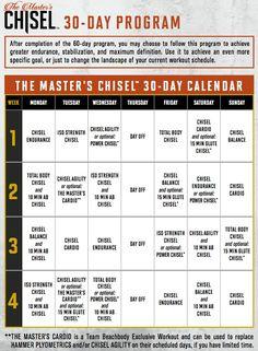 Chisel 30 day calendar option