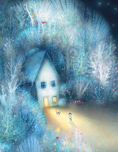 Lisa Evans, Children's Illustrator Book Illustration, Watercolor Illustration, Watercolor Art, Lisa Evans, Evans Art, Art Deco Posters, Guache, Naive Art, Winter Art
