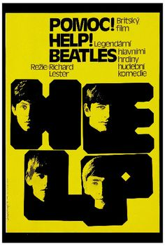 """Beatles - The Beatles """"HELP"""" Polish Movie Poster 1965 in British Invasion Music Posters"""
