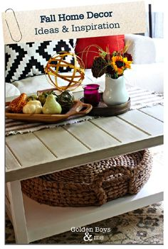 Get inspired to style your home for the fall season. These simple home décor ideas will help make your home feel quaint and cozy this autumn. Click here for more inspiration!