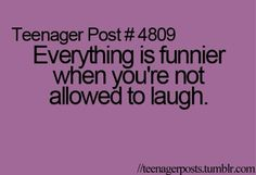 My friend made me laugh when the teacher was scolding the class and everyone was staring at meh XD - Sylveia Wolv