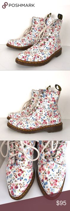 Doc Martens Lottie boots sz 8 Floral dr. Martens Doc Martens. Sz 8. Absolutely great condition. Dr. Martens Shoes Ankle Boots & Booties