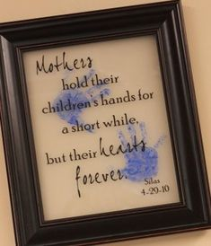 Mothers hold their children's hands . . . - Love it!